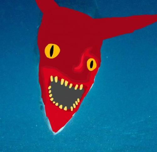 Encuentran Tiburón con cara del demonio