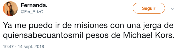 Michael Kors quiso robar uniforme de Facultad de Filosofía