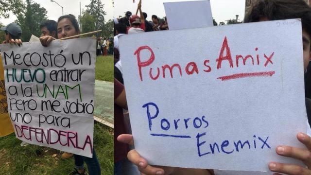 Los mejores carteles de la marcha de la UNAM