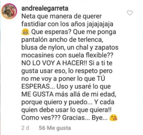 Andrea Legarreta criticada por su ropa