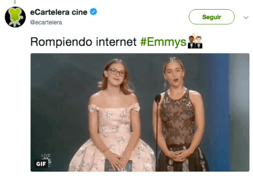 Millie BobbY Brown emilia clarke emmy awards