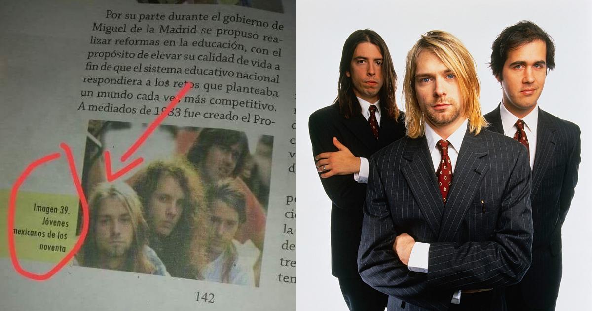 Libros De Texto Nirvana, SEP, Nirvana, Libros De Texto, Kurt Cobain, Nirvana