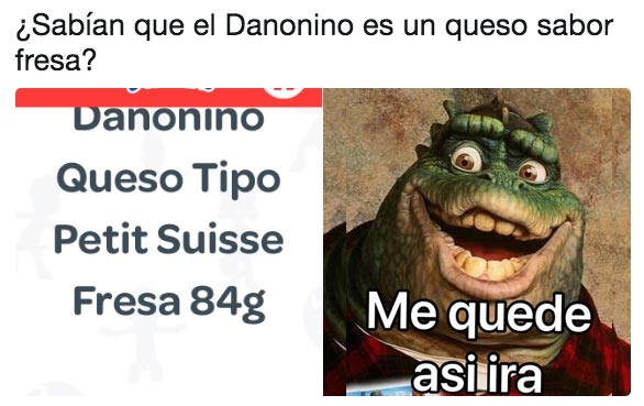 Memes para superar la traición de que el Danonino es queso