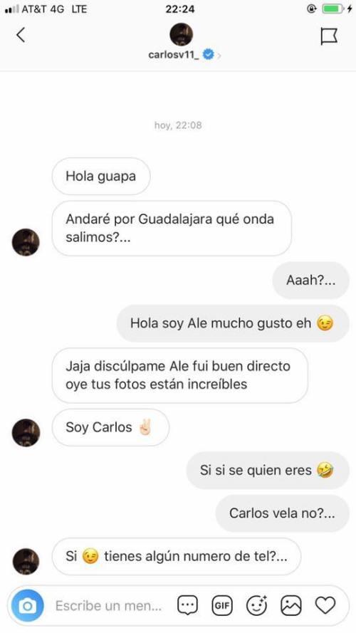 Modelo trans evidencia a Carlos Vela