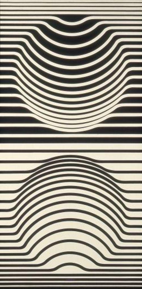 Ilusión optica platos desechables