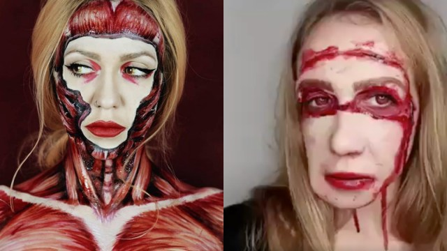 Maquillaje Sangriento De Halloween, Maquillaje Halloween, Maquillaje Sangriento, Maquillajes, Sangre, Halloween