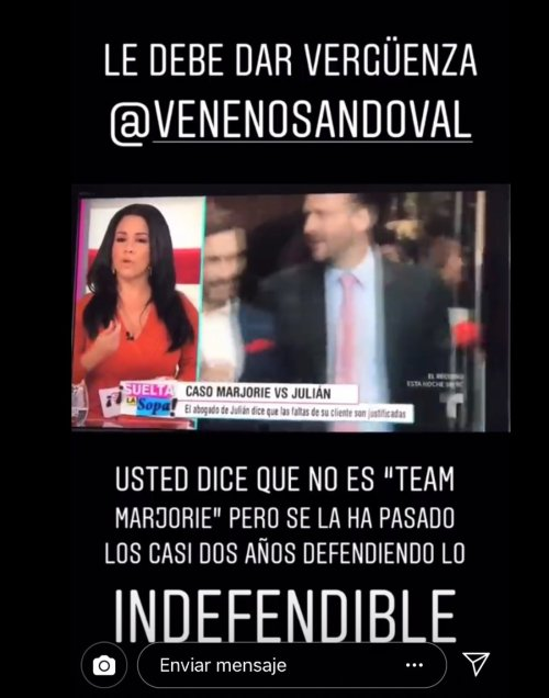 Nicolle Gil estalla contra Carolina Sandoval