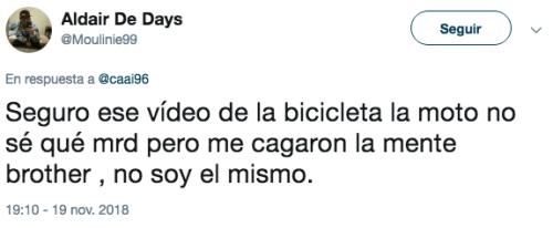 Comentarios video bicicleta y botella