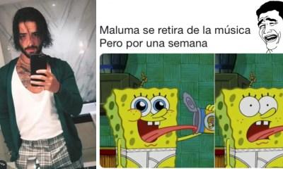 Memes del retiro de Maluma de la música