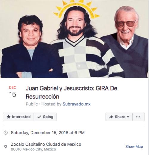 Organizan gira de resurrección de Jesucristo y Juan Gabriel
