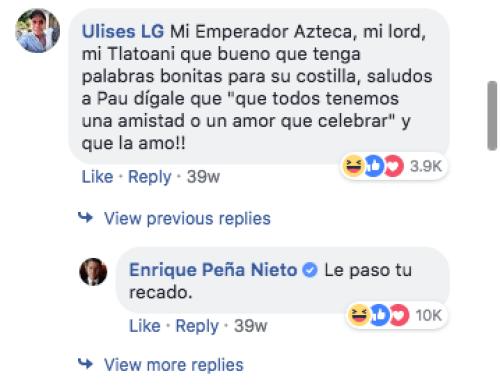 Todas las veces en que Peña Nieto respondió en Facebook