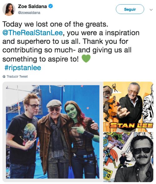 Reacciones a la muerte de Stan Lee