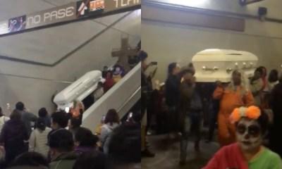 Suben Ataúd Metro Línea 12, Suben Ataúd Al Metro, Ataúdes En El Metro, Ataúd, Línea 12, Día De Muertos
