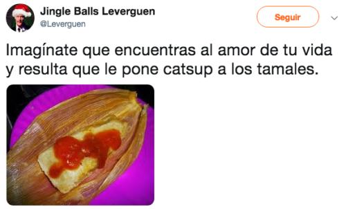 Tamales con catsup