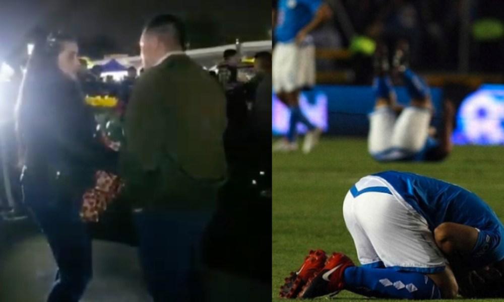 Aficionado pide matrimonio en final de fútbol; es rechazado