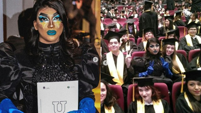Asiste A Graduación Vestido Como Drag, Graduación Drag, Graduación UANL, Drag, Rebel Mork, Diseño Grafico