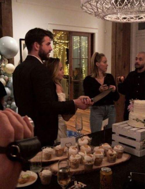 Las fotos de la boda secreta de Miley Cyrus y Liam Hemsworth