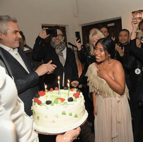 Así festejó su cumpleaños Yallitza Aparicio