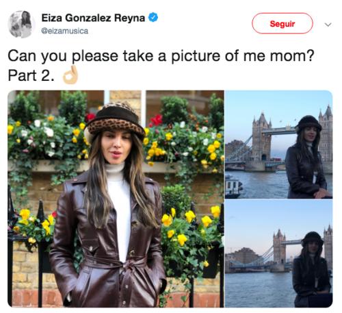 Mamá de Eiza González le toma fotos