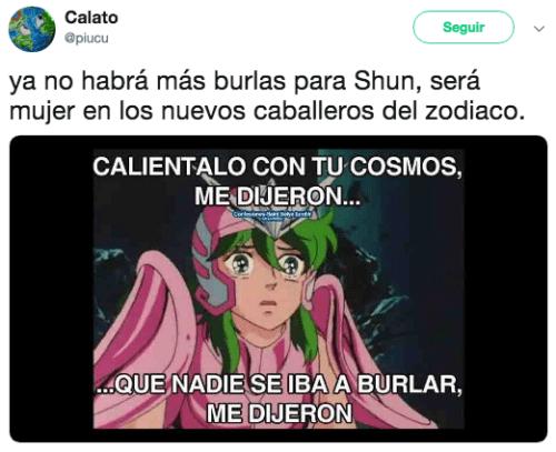Memes porque Shun ahora es mujer