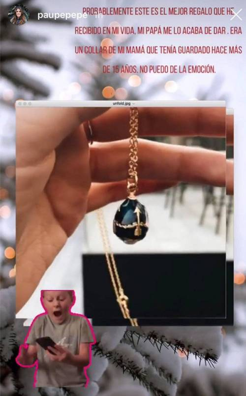 Paulina Peña Pretelini recibe regalo navideño de Enrique Peña Nieto