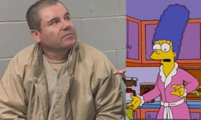 Chapo Guzmán y Kate del Castillo dibujados como Los Simpson