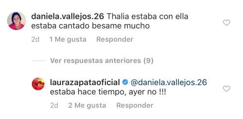 Thalia y Laura Zapata festejan el cumpleaños de su abuelita Eva Mange