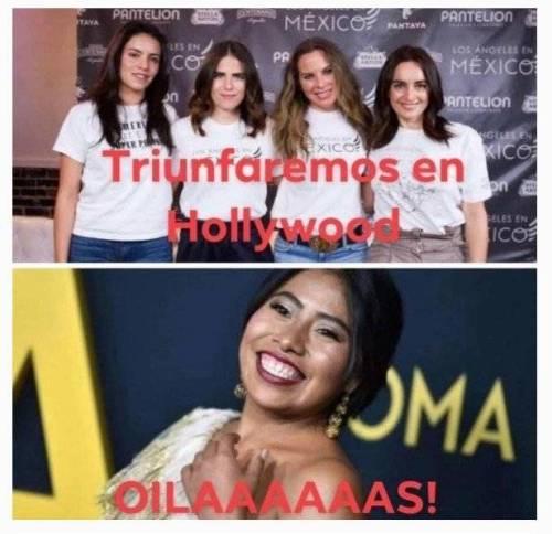 Yalitza Aparicio molesta con memes que la comparan con otras actrices