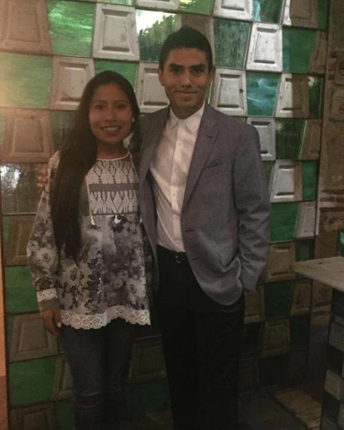 Jorge Antonio Guerrero y Yalitza Aparicio