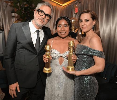 Yalitza Aparicio se reunió con Angelina Jolie