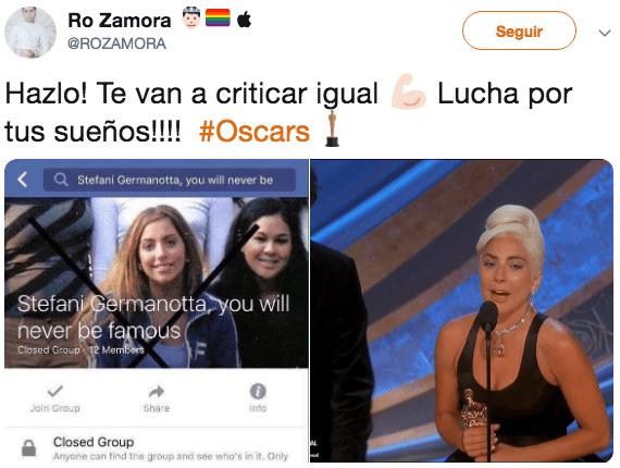Lady Gaga y Bradley Cooper se ganaron los Oscar