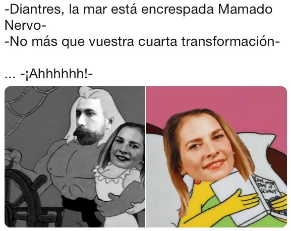 Beatriz Gutiérrez confunde a Amado Nervo con Mamado Nervo