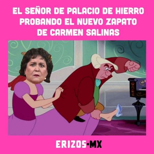 Le venden dos zapatos izquierdos a Carmen Salinas