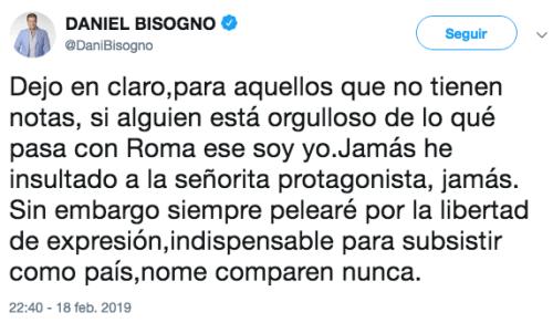 Daniel Bisogno llama ladrón de autopartes a actor de Roma