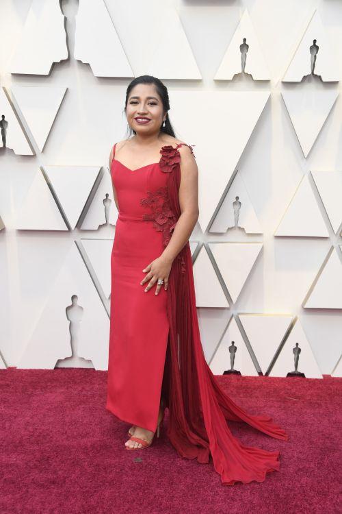 Yalitza Aparicio llega a la ceremonia del Oscar
