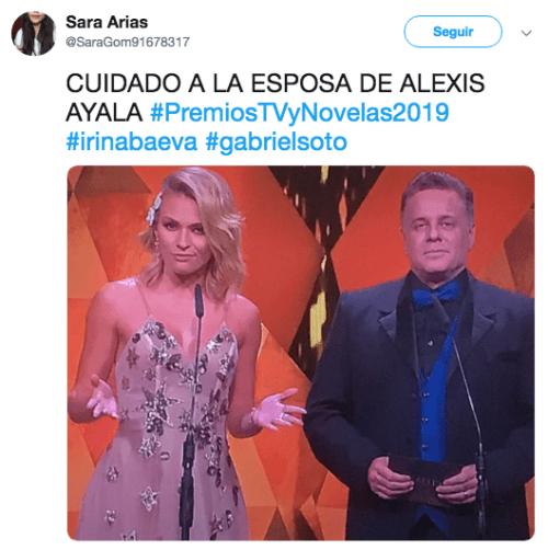 Critican a Irina Baeva en los premios TVyNovelas