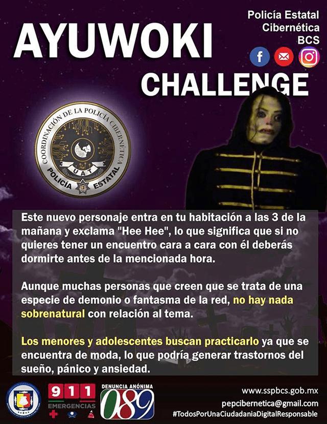 Policía mexicana emite alerta por el Ayuwoki