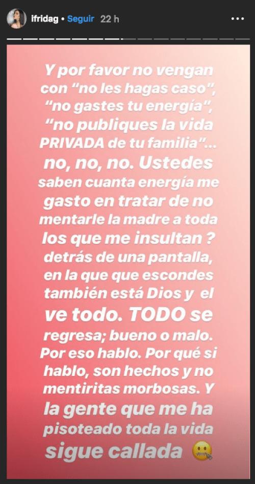 Frida Sofía estalla en contra de la familia de Silvia Pinal