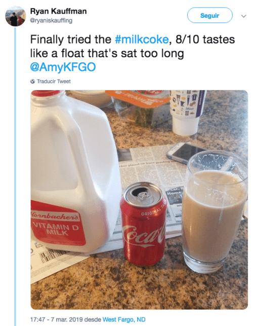 Llega reto viral Milkcoke