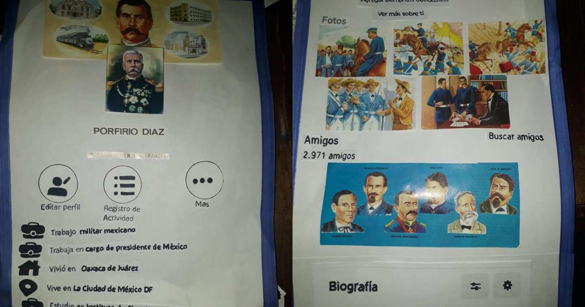 Niño Presenta Biografía De Porfirio Díaz Con Perfil De Facebook, Niño Presenta Biografía De Porfirio Díaz, Porfirio Díaz Facebook, Facebook, Perfil, Porfirio Díaz