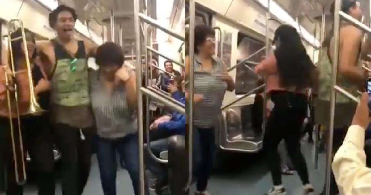 Usuarios Bailan La Chona En Metro, Video Gente Bailando La Chona En El Metro, Línea 2 Del Metro, Video, Bailan, Chona