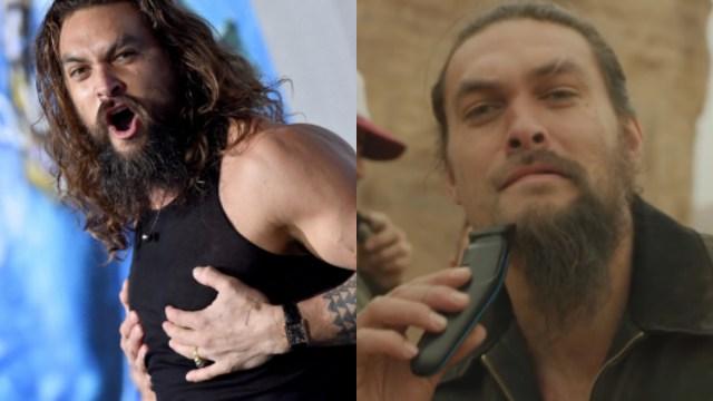 Jason Momoa, Aquaman, le dice adiós a su barba