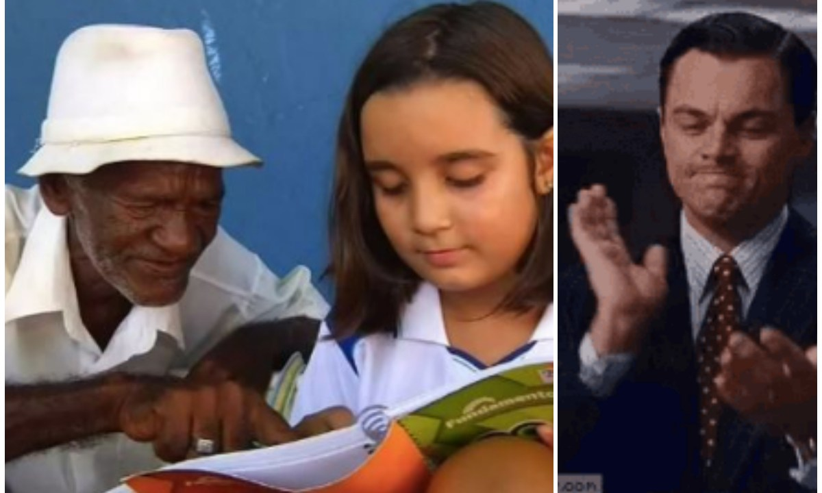 Niña de 9 años le enseña a leer y escribir a vendedor
