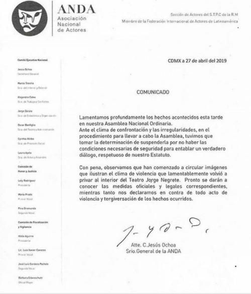 Jesús Ochoa dice si golpeó a Fernando Larrañaga en asamblea de la ANDA