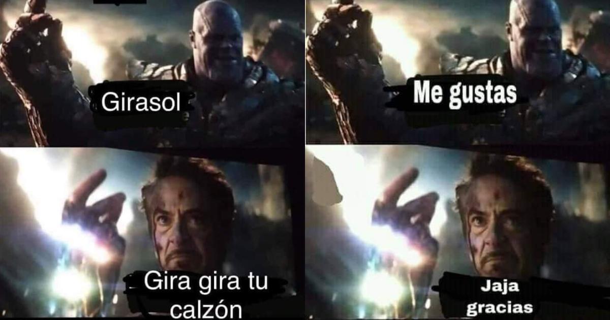 Memes De Iron Man Tronando Los Dedos Para Derrotar A Thanos Erizos