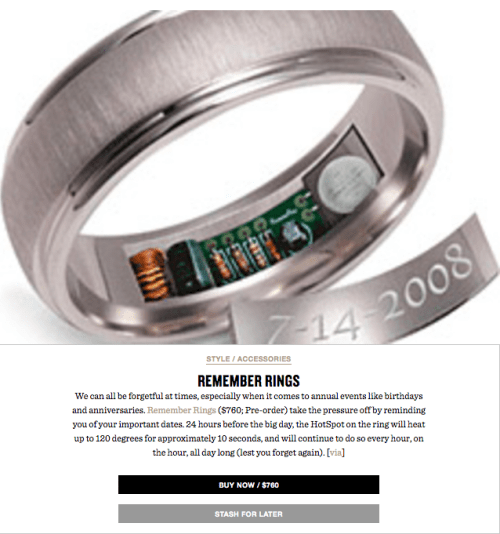 El anillo de bodas con gps para infieles es falso