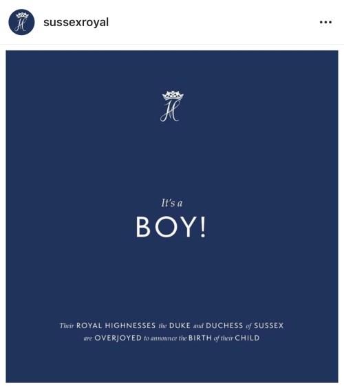 Nace el bebé de Meghan Markle y el príncipe Harry
