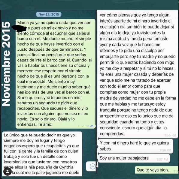 Filtran conversación de Whatsapp entre Frida y alejandra