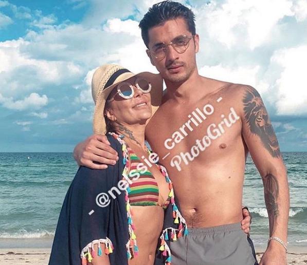 """En una ocasión, """"La Guzmán"""" y el ex de su hija fueron captados saliendo del mismo hotel. Después fueron vistos paseando por las calles de Los Ángeles, California."""