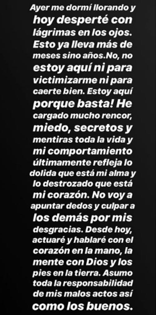 Frida Sofía Guzmán pide disculpas por su mal comportamiento